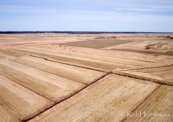Aerial photograph. Amherst, Nova Scotia. The fields are turf in spring, Maritime Sod Ltd.