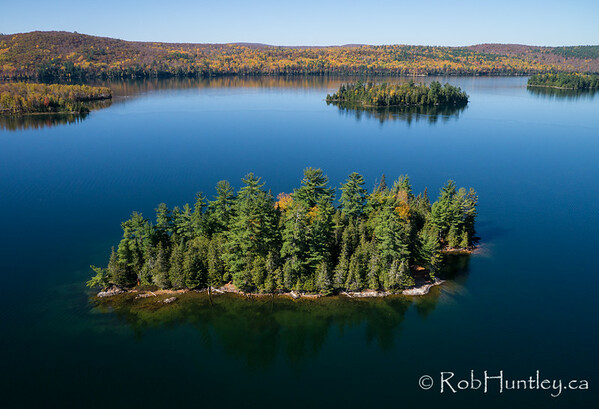 Looking down on one of the islands on Big Cedar Lake.