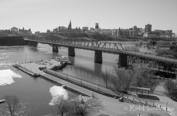 Alexandra Bridge across the Ottawa River