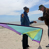 Revere Ma. 5-21-17. John and Joyce LaMonica prepare their stunt kite on Revere Beach durng the Revere Beach Kite Festival on Sunday.