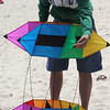 Revere, Ma. 5-21-17. Sam Avdic constructs a box kite at the Revere Beach Kite Festival.