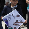 Revere, Ma. 5-21-17. David Rorth with his new kite that he decorated himself at the Revere Beach Kite Festival on Sunday.