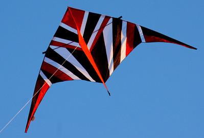 Premier Kites, USA - 14' black, red, and white delta. Designed by Reza Ragheb.