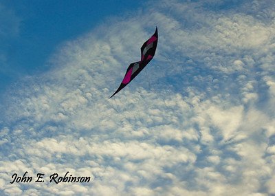 I am having a great fly with my new custom Mamba V2, handmade by Ken McNeill, Blue Moon Kites. Photographed by my husband. Feb. 20, 2012