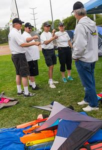 Team Too Much Fun doing stick practice with Team Air Zone: [Darrin Skinner, Francisco Navarro, Mark Lummus, Jeanette Lummus & John Gillespie]