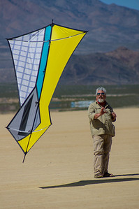 Published in Summer 2013, vol 35, issue 2: AKA Kiting, The Journal of the American Kitefliers Association. (p. 45)  [On the Playa: Ron Gibian flying his original design, hand made Astroglide]
