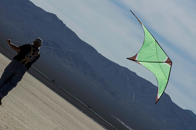 Published in Summer 2013, vol 35, issue 2: AKA Kiting, The Journal of the American Kitefliers Association.  [On the Playa: John Robinson flying our Paul deBakker Manta]