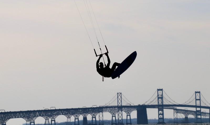 Flying High over the Chesapeake Bay Bridge