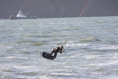 Kitesurfing @ Ft Point Golden Gate