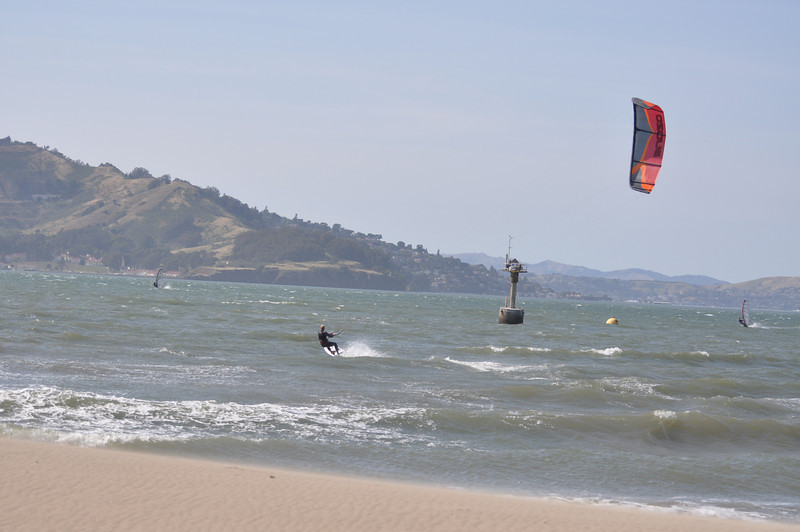 Powered up and going to weather. Kiteboards may soon be going upwind with the formula guys. Looking forward to the first Course race Kiters vs Formula. My prediction - Kiters will be there in 2 more years.