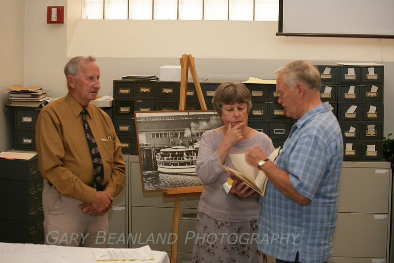 Bob Ulsh spoke to museum members about the historic Mosquito Fleet that used to commonly ply the waters of Puget Sound.