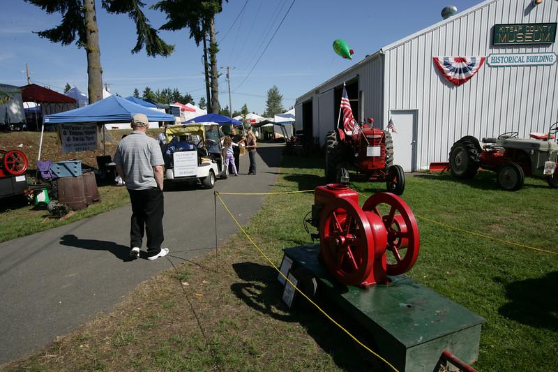 Kitsap Tractor Club Exhibit.