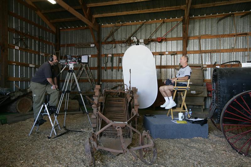 Chris Davenport begins filming the Kitsap oral history of Kitsap educator Alan Lowe.