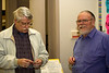 Phil Williams chats with Bill Slach, a museum member, volunteer and past Board President.