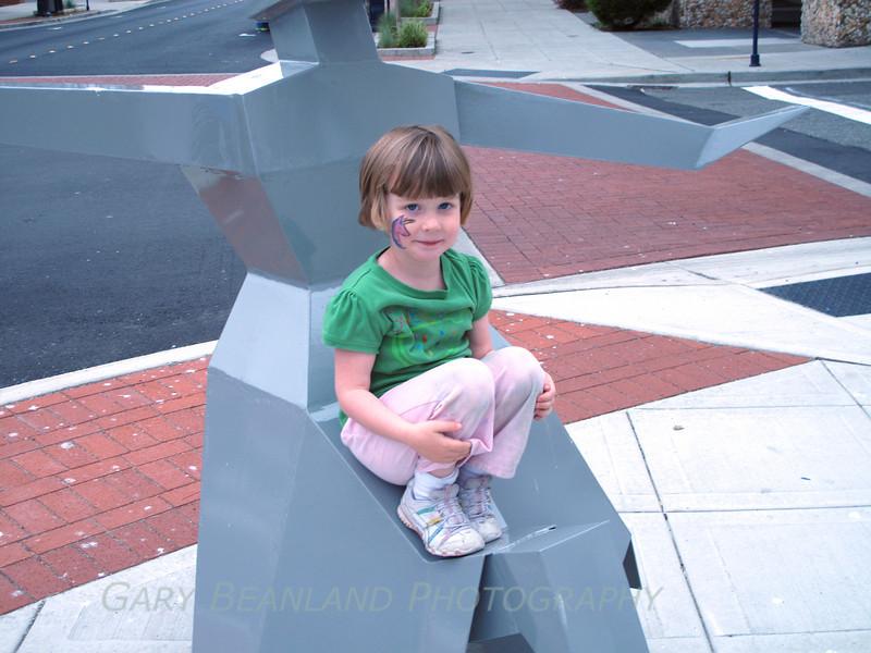 Girl on Statue IMG_0115