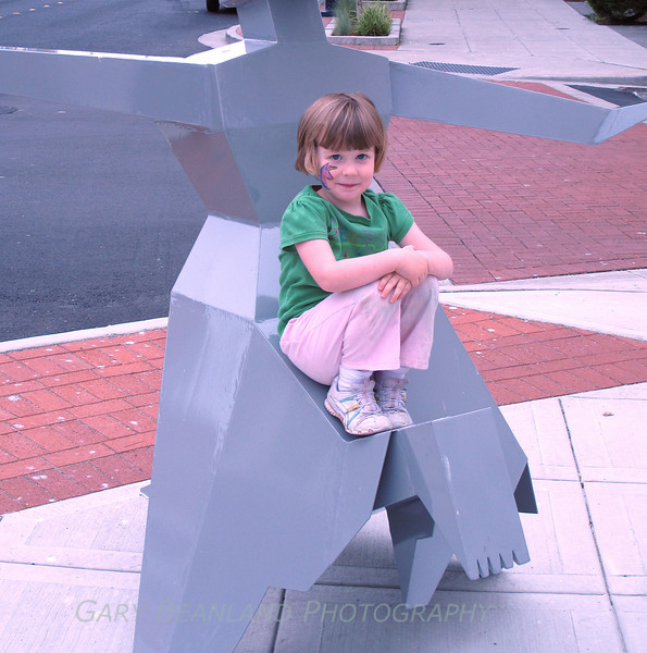 Girl on Statue 2