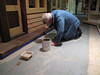 Bill Slach painting edges.