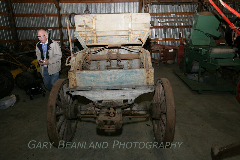 Bob Gough and his donated dump wagon.  Thanks, Bob!  <br /> ZL2A8613