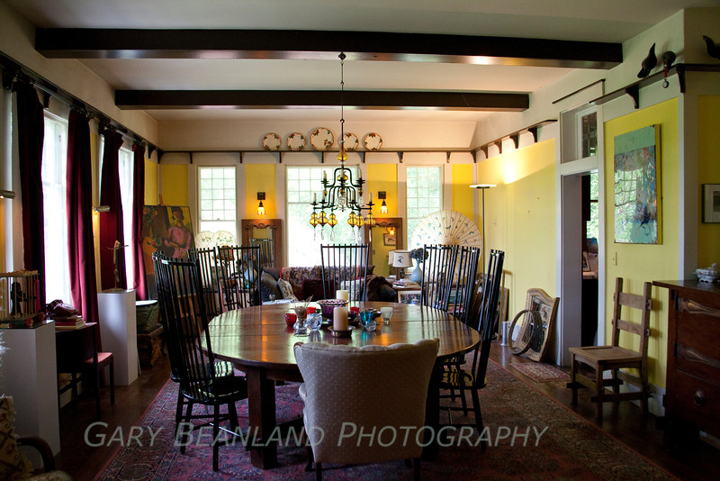 The Historic Gazzam House.  The table is original to the house.