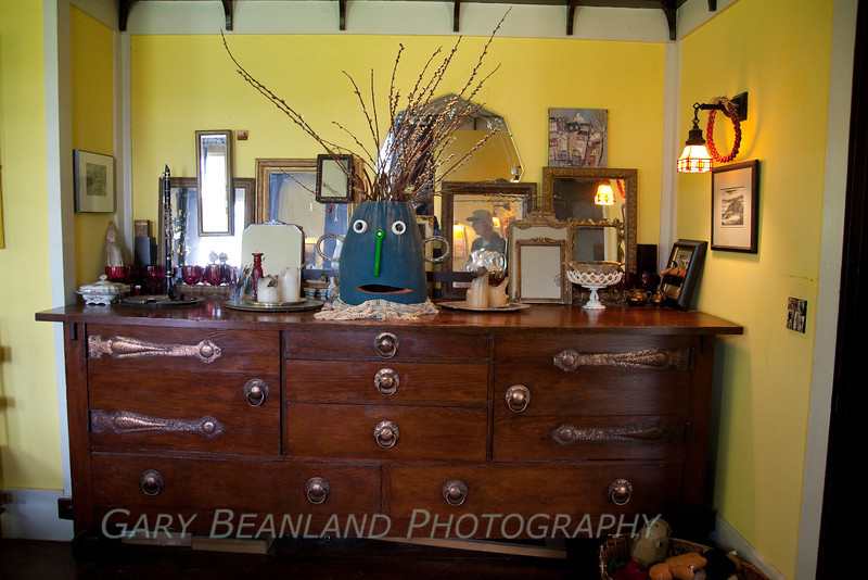 The Historic Gazzam House.  The sideboard is original to the house.