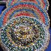 Decorative Item Woven of Straw and Recycled Plastic