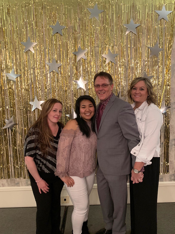 . From left, Kerri Bailey and Sentra Hou of Lowell, Honoree Robert Skirvin-Orr of Nashua, and Paula Jean of Dracut