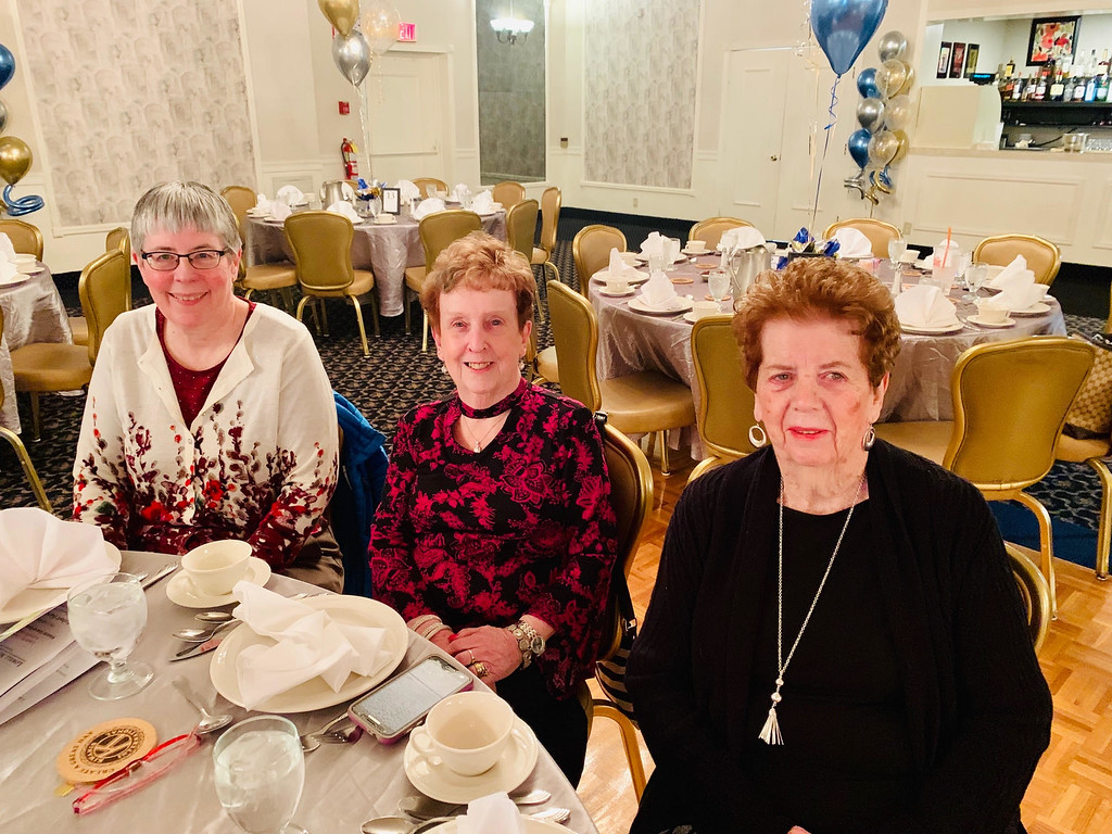 . Kiwanis members, from left, Pat Bowe of Lowell, Joan Bedford of Dracut and Claire Hamilton of Lowell