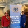 Kiwanis Lt. Gov. Division #9 Gayla Bartlett and Past President Kay Maurice, both of Danvers