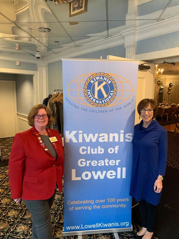 . Kiwanis Lt. Gov. Division #9 Gayla Bartlett and Past President Kay Maurice, both of Danvers