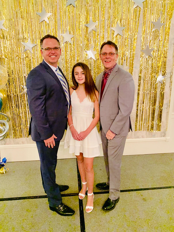 . Honoree Robert Skirvin-Orr, right, with husband  Andrew Orr-Skirvin and daughter Danielle Orr-Skirvin of Nashua, N.H.