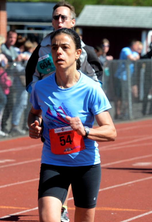 . Tania Barricklo-Daily Freeman                      Marathon female winner Gabriela Olivera.