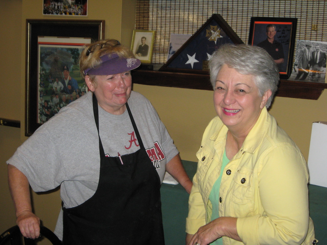 Gailo (owner of Down the Street Restaurant) with Linda Grant