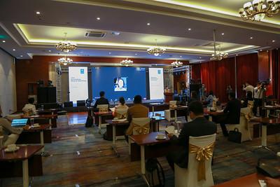 """2020 оны долдугаар сарын 21.  """"COVID-19""""-ийн эсрэг Монгол Улсын авч, хэрэгжүүлж буй үйл ажиллагааг дүгнэсэн зөвлөлдөх уулзалт болж байна.   ГЭРЭЛ ЗУРГИЙГ Д.ЗАНДАНБАТ/MPA"""
