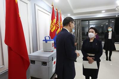 """2021 оны дөрөвдүгээр сарын 2. БНХАУ-аас манай улс 900 мянган тун """"Verocell"""" вакцин худалдан авч байгаа бөгөөд өнөөдөр эхний ээлжийн 300 мянган тунг хүлээн авлаа.  Тодруулбал, """"Чингис хаан"""" олон улсын нисэх буудалд 22:25 цагт МИАТ-ийн ОМ-224 аяллын дугаартай Бээжин-Улаанбаатар чиглэлийн онгоцоор 300.000 тун """"Verocell"""" вакцин ирэв.  БНХАУ-ын хувьд тусламжийн шугамаар 60 оронд, арилжааны шугамаар 40 оронд тус вакциныг нийлүүлж байгаа аж.ГЭРЭЛ ЗУРГИЙГ Г.САНЖААНОРОВ/MPA"""