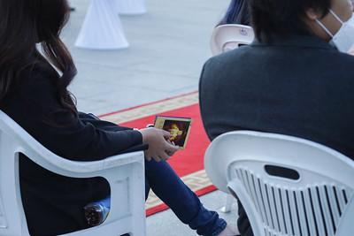 """2021 оны есдүгээр сарын 9. Монголын Үндэсний Кино Урлагийн Академийн шинэ уран бүтээл """"Богд хаан"""" уран сайхны киноны үргэлжлэл болох """"Монголын Сүүлчийн Эзэн Хаан"""" уран сайхны киноны албан ёсны нээлт боллоо. ГЭРЭЛ ЗУРГИЙГ И.НОМИН/MPA"""