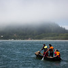 Youth from the Yurok Tribe paddle a traditional Redwood Dugout Canoe towards Requa. (Ben Lehman - Contributed photo)