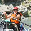 Jon-Luke Gensaw rows one of the Warrior Institute's rafts. (Ben Lehman - Contributed photo)