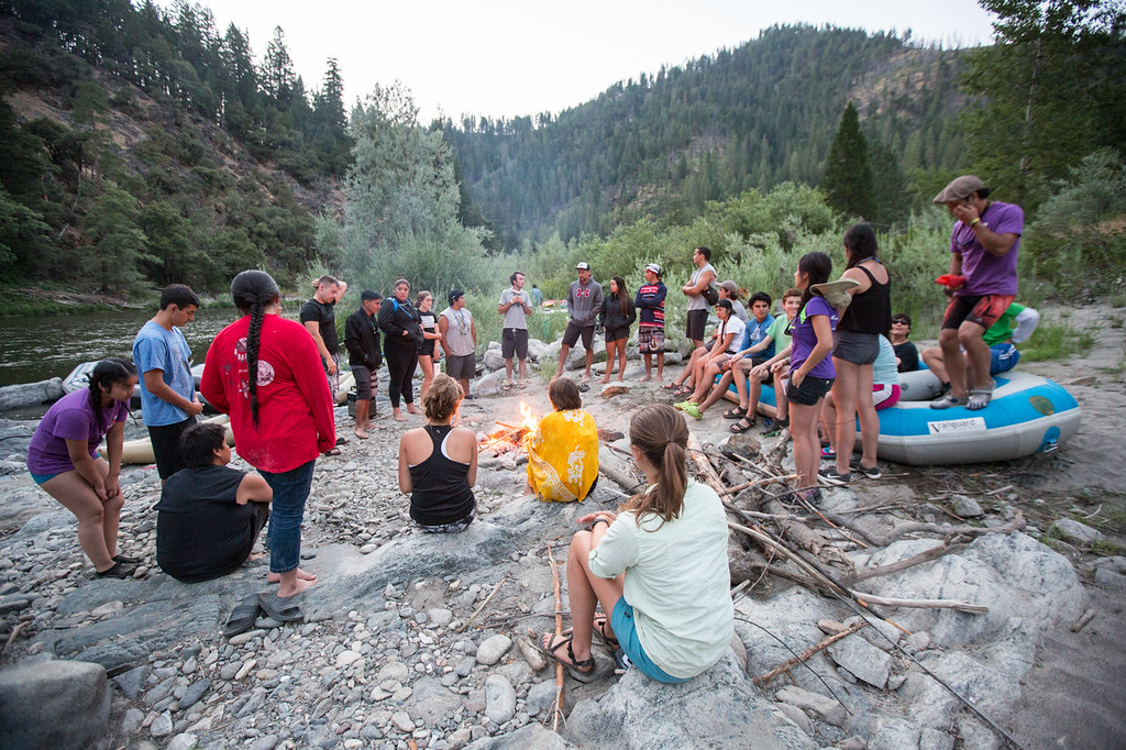 . Evening campfire meeting on the banks of the Klamath River. (Ben Lehman - Contributed photo)
