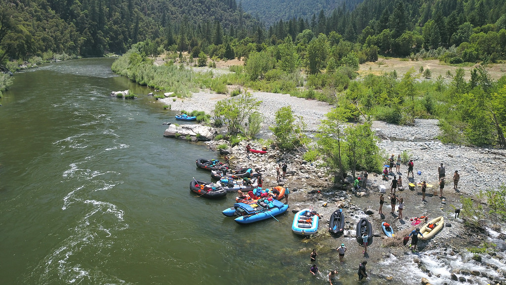 . The expedition makes a stop at Thompson Creek for lunch. (Ben Lehman - Contributed photo)
