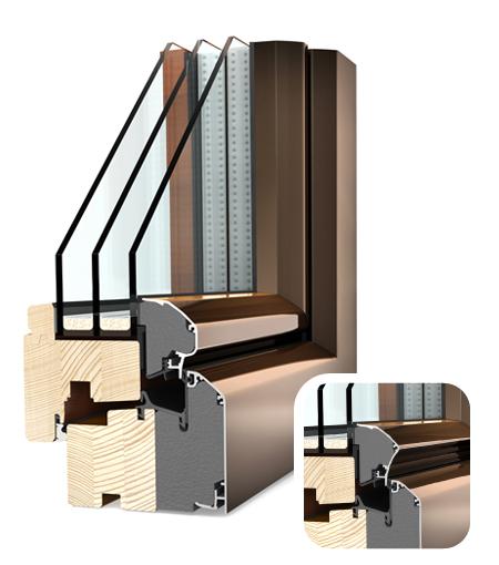 Internorm dřevohliník Ambiente HF300 softline a premium