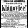 Klánovice - původní inzerát Václava Klána ze 4. 5. 1878