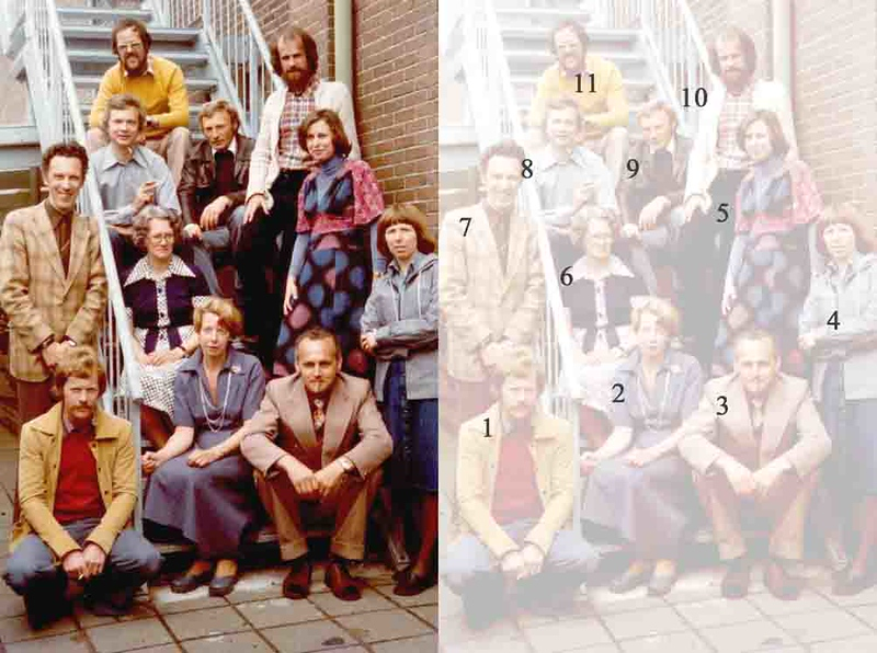 KL0016  Leraren Antoniusschool    1975-76<br /> <br /> 01Hein van de Meer<br /> 02Conny van Ulden<br /> 03Meneer van de Zanden<br /> 04Esther van Vliet<br /> 05Ben Wisman<br /> 06Luud Meijkamp<br /> 07Louise van Dijk<br /> 08Frans Peeters<br /> 09Arnold Merks<br /> 10Piet  Zuiderwijk<br /> 11Hans de Bruijn