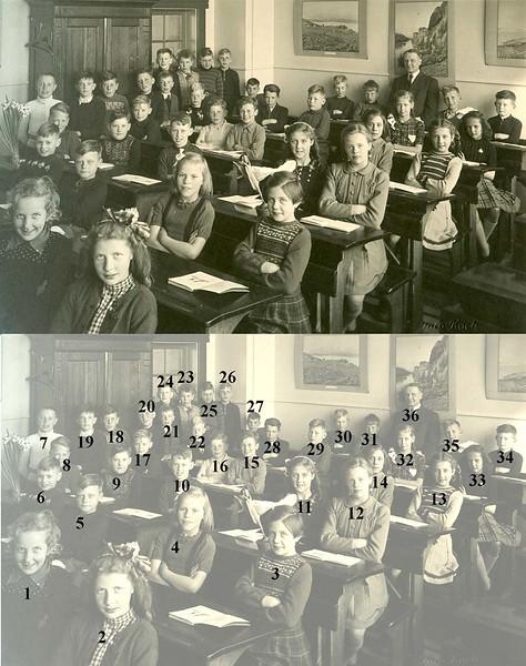F0444e <br /> Twee albums met schoolfoto's (klassenfoto met leerkrachten) van klassen van De Visserschool. Enkele foto's met alle leerkrachten. De meeste foto's zijn genomen in de jaren '50. Enkele uit de jaren '25/'30. De school had toen de naam de School met den Bijbel.<br /> <br /> 1Riet Kroes<br /> 2Truus Hoekstra<br /> 3Jopie van Nes<br /> 4Martha Kühn<br /> 5Piet Smit<br /> 6Nico Broekstra<br /> 7Gerrit Schalk<br /> 8Piet Vercouteren<br /> 9Arie Lugtigheid<br /> 10Nico van der Plas<br /> 11Truus van der Heiden<br /> 12Francien Limburg<br /> 13Janna van der Heiden<br /> 14Willie Havenaar<br /> 15Harry Jansze<br /> 16Hennie van der Wagt<br /> 17George Verhoog<br /> 18Anne Jan Möhlmann<br /> 19Peter Tibboel<br /> 20Cees Benschop<br /> 21Gerrit Zandbergen<br /> 22Eppie Dijkstra<br /> 23Jan Philippo<br /> 24Joop Soet<br /> 25Hans Goede<br /> 26Bert van Eijk<br /> 27Leo Westerbeek<br /> 28Marius van Houwelingen<br /> 29Piet Braam<br /> 30Frans Verhoef<br /> 31Jaap de Jong<br /> 32Greetje Vis<br /> 33Corry van Bladel<br /> 34Kees Staring<br /> 35Cor van Leeuwen<br /> 36Meester Strik