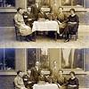 F0637 <br /> Leerkrachten van de School met den Bijbel. De foto is genomen vóór 1923. <br /> <br /> 01juffr. Kouwenhove<br /> 02meester Boersma<br /> 03J.H. Hoffmann?<br /> 04J. Wiepkema (hoofd van de school)<br /> 05<br /> 06<br /> 07juffr. van Es<br /> <br /> De heer J.Hoffmann woonde Rusthofflaan 5. Hij trouwde in 1923 met Fie Verhoog, oudste dochter van gemeente opzichter A.L.Verhoog. Het echtpaar J.Hoffmann-Verhoog vertrok daarna naar Brummen .