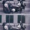 F0636 <br /> Leerkrachten van de School met den Bijbel. De foto is genomen tussen 1910 en 1914. <br /> <br /> 01<br /> 02J. Wiepkema <br /> 03P.J. Vercouteren (hoofd van de school)<br /> 04<br /> 05meester Boersma<br /> 06