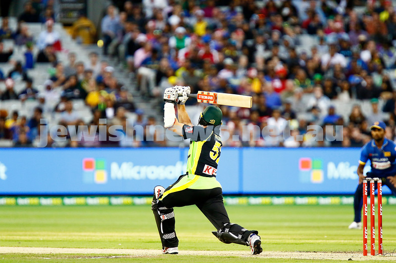 17-2-17. T 20 international, Australian v Sri lanka at the MCG. Michael Klinger debut for Australia makes 38 runs. Aus 6/168 lost to SL 5/172. Photo: Peter Haskin