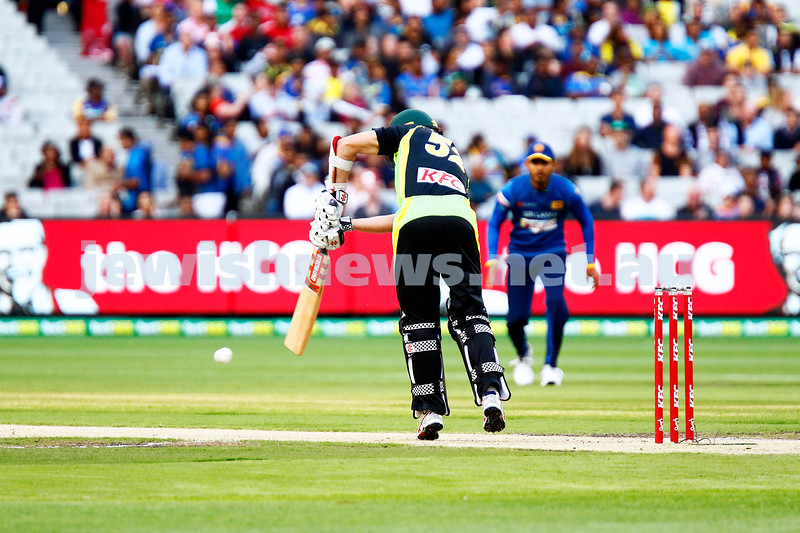 17-2-17. T 20 international, Australian v Sri lanka at the MCG. Michael Klinger debut for Australia makes 38 runs. Aus 6/168 lost to SL 5/172. Klinger facing his first ever ball representing Australia. Photo: Peter Haskin