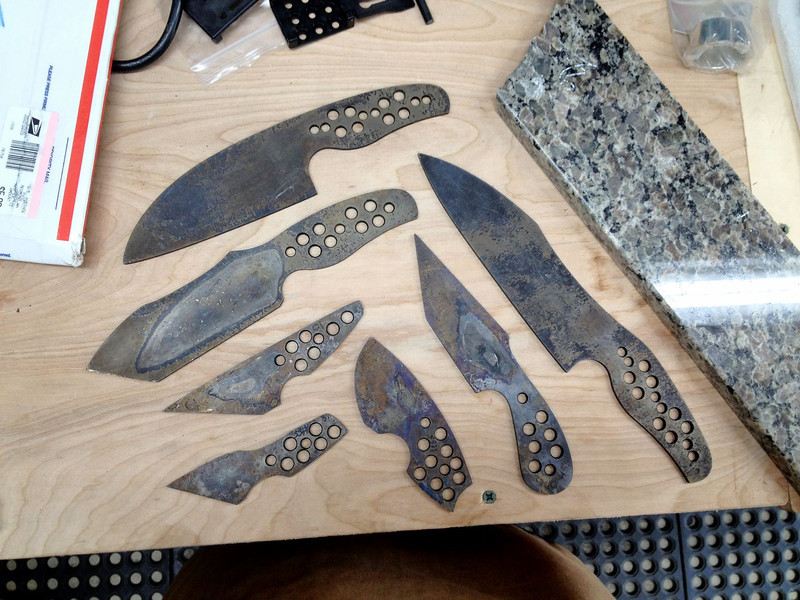 I also received my last batch of knives back from being heat treated.  Thanks, Jake!