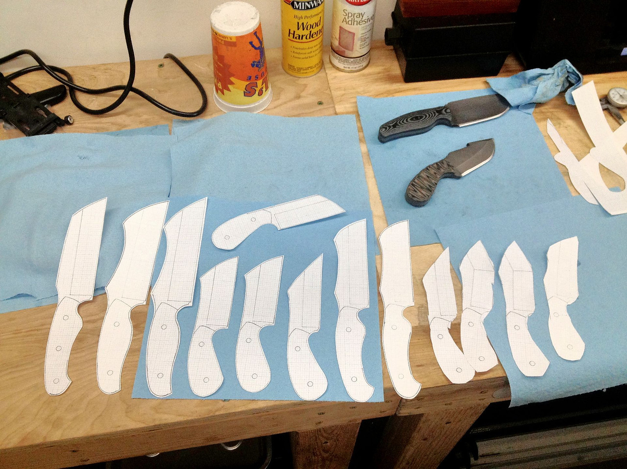 All cut out and ready to spray-glue to the steel.  I'm really excited about these!