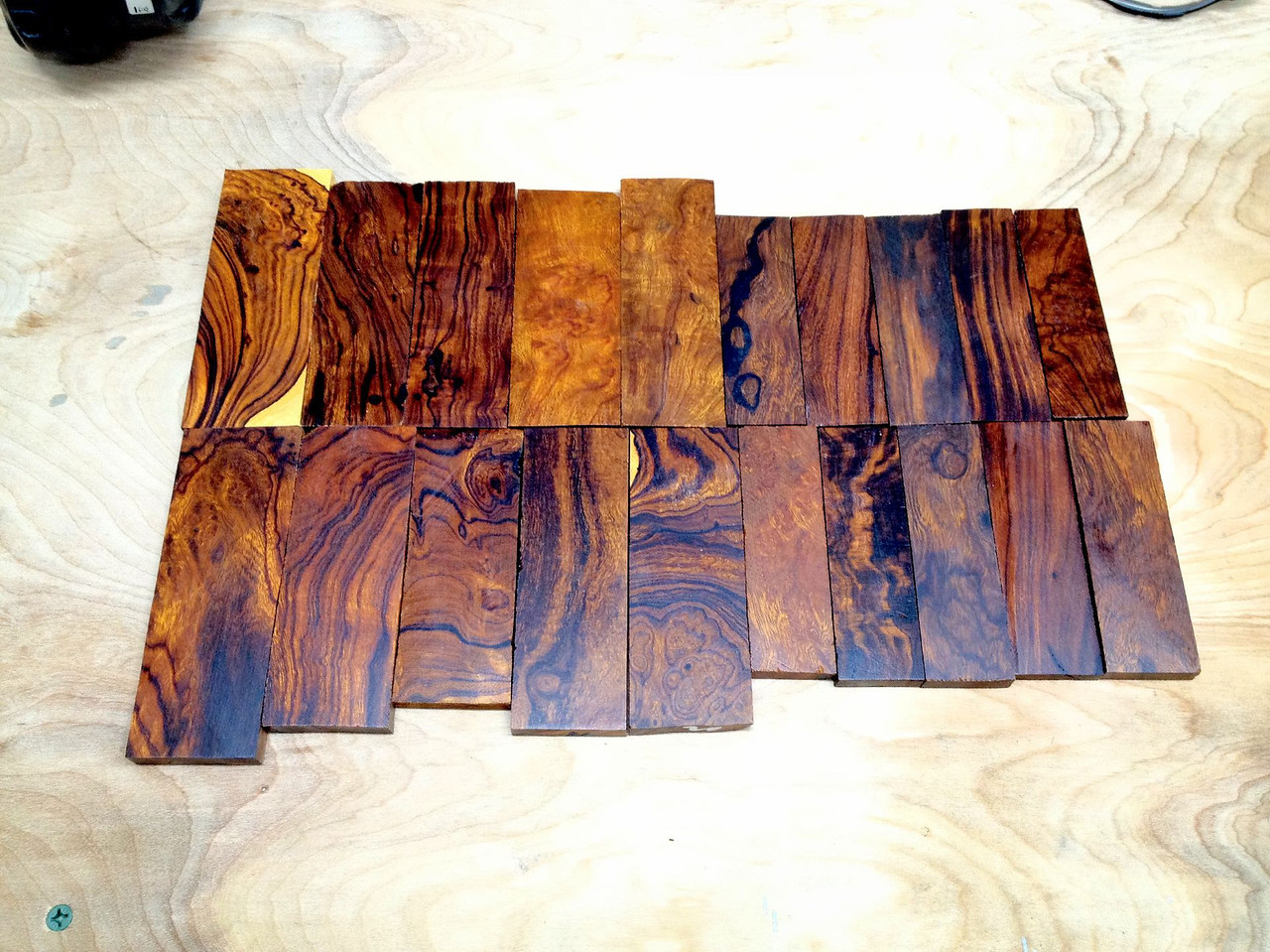 I also received a shipment of ironwood today.  Man, I love this stuff.